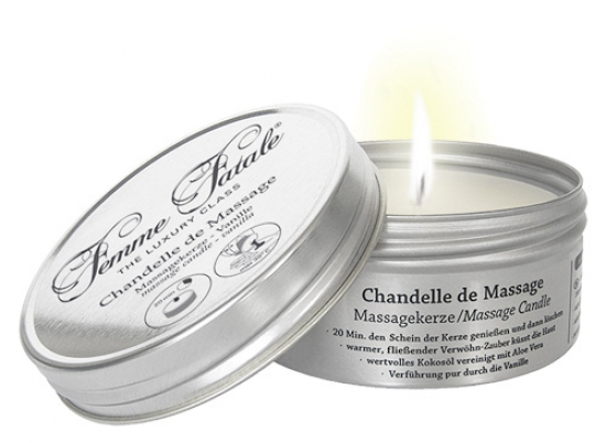 Massage Candle Vanille - Farbe: weiß - Aroma: Vanille - Menge: 125ml
