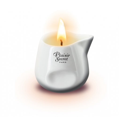 Plaisir Secret Paris Massage Candle  weiß Aroma Erdbeere 80ml