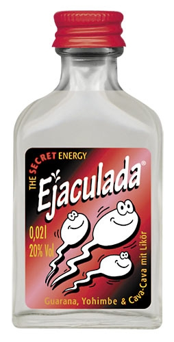 Ejaculada Energy-Drink - Likör mit Guarana, Yohimbe, Maca & Vodka