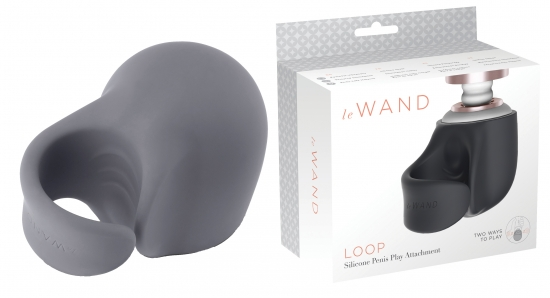 Le Wand Loop Silicone Penis Play Attachment - Farbe: Grau