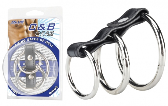 BLUE LINE C&B GEAR 3 Ring Gates Of Hell - Farbe: PVC & Metall